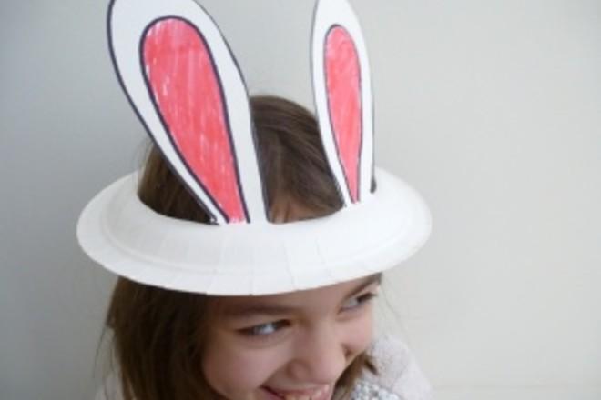 Easter bonnet - paper plate bunny ear hat & Easter bonnet - paper plate bunny ear hat - Netmums