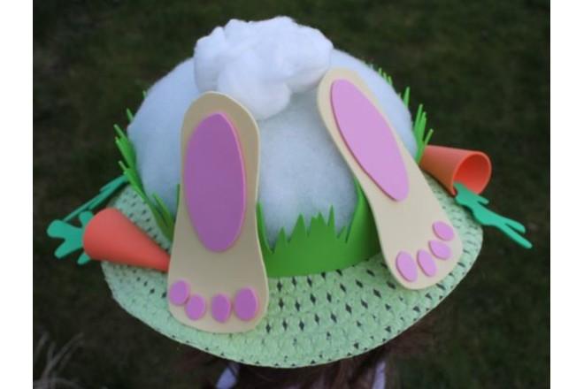 Bunny Running Away Easter Bonnet