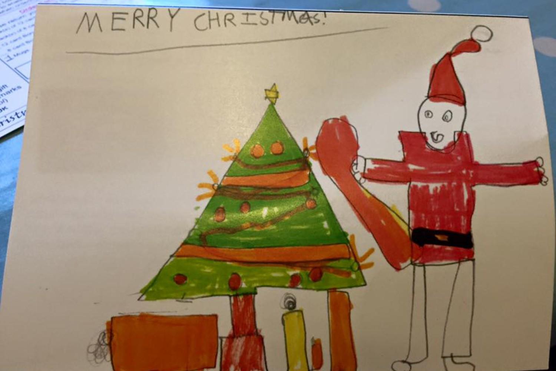En tot slot tekende Fleurtje deze gulle Kerstman