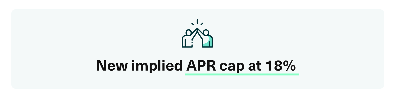 implied APR cap at 18%