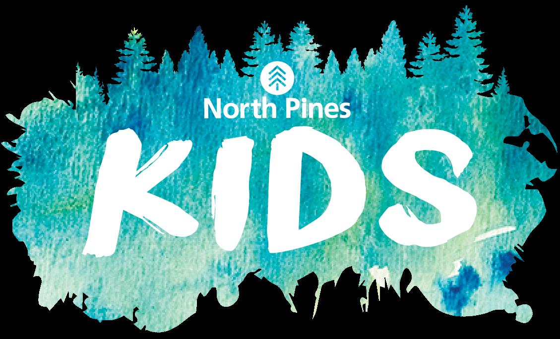 North Pines Kids watercolor logo