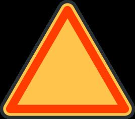 Señal en forma de triángulo.