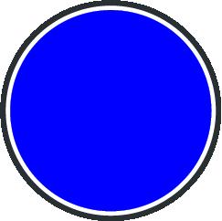 Señal en forma de círculo.