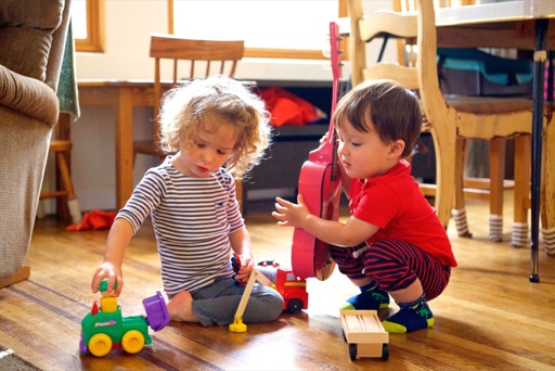 Two children playing together