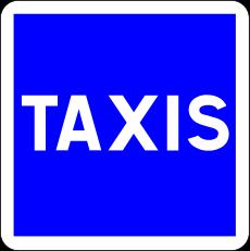 Panneau carré : panneau d'information ou d'indication
