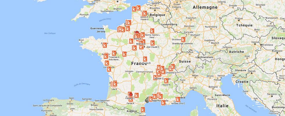 Présence des auto-écoles Ornikar en France
