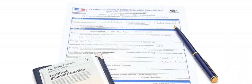 Formulaire de demande d'immatriculation