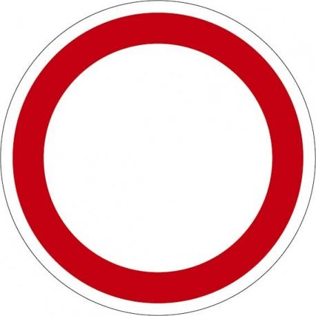 Panneau rond : un panneau d'interdiction ou d'obligation
