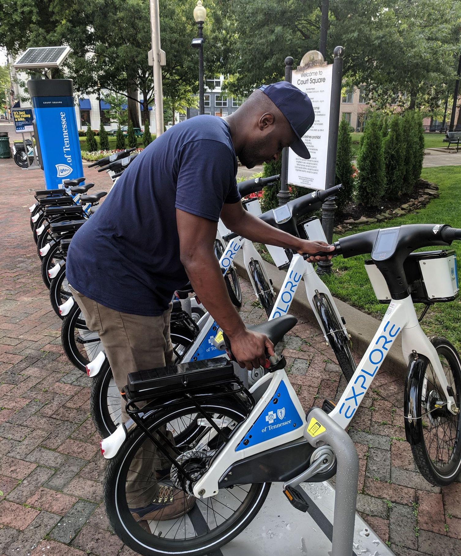 Bike share in Memphis.