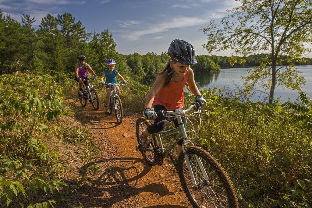 Biking in Cuyuna, Minnesota.