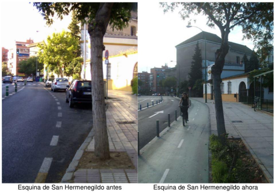 Esquina de San Hermenegildo before and after