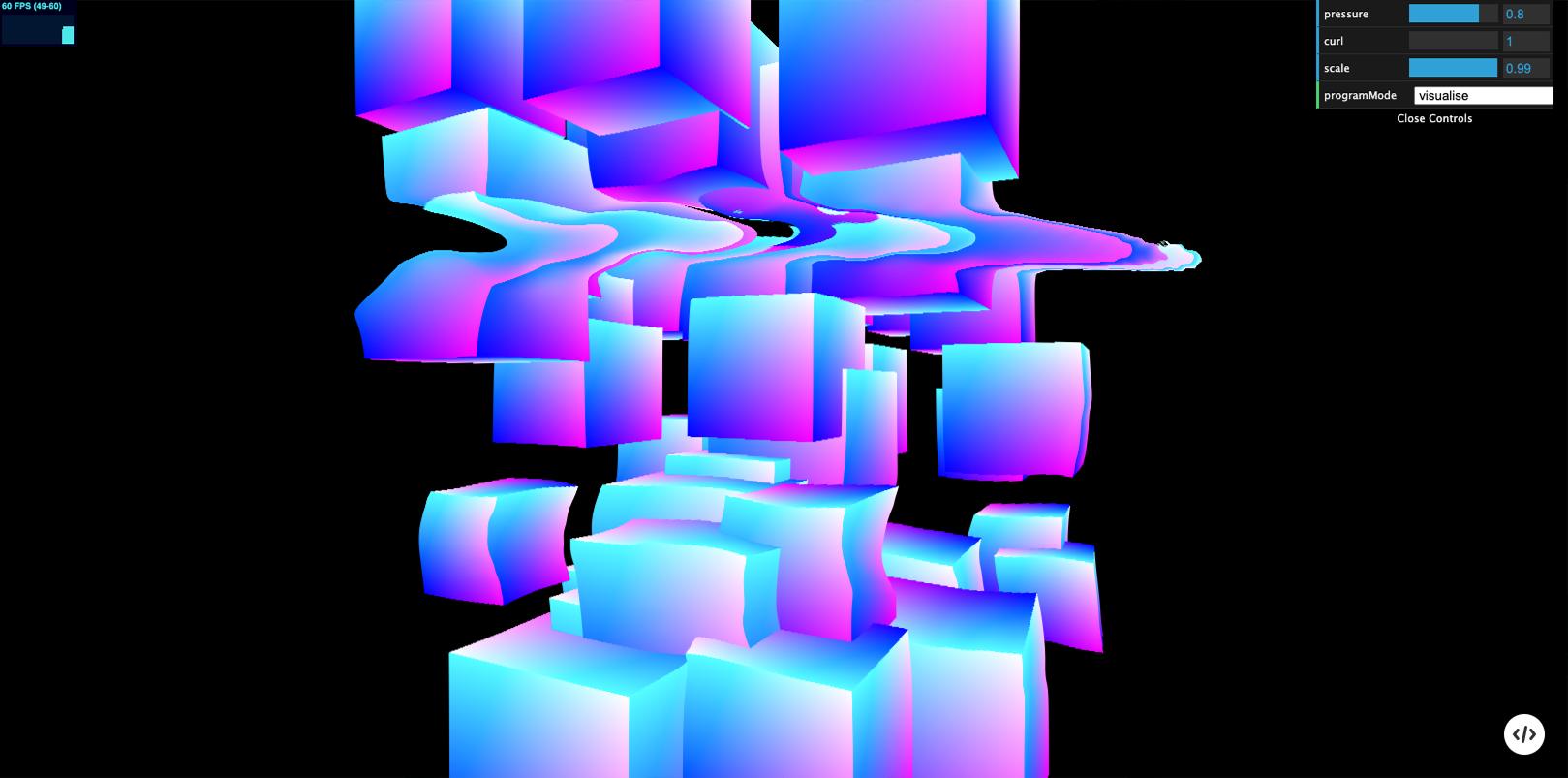 Fluid dynamics demo