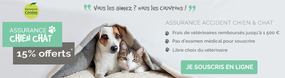 Réduction assurance santé animal Casino