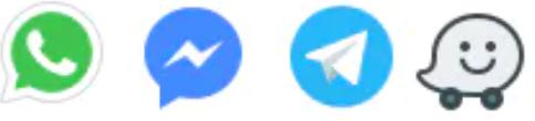 Whatsapp, Telegram, Messenger e Waze ilimitados