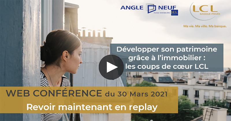 web conférence : Développer son patrimoine grâce à l'immobilier