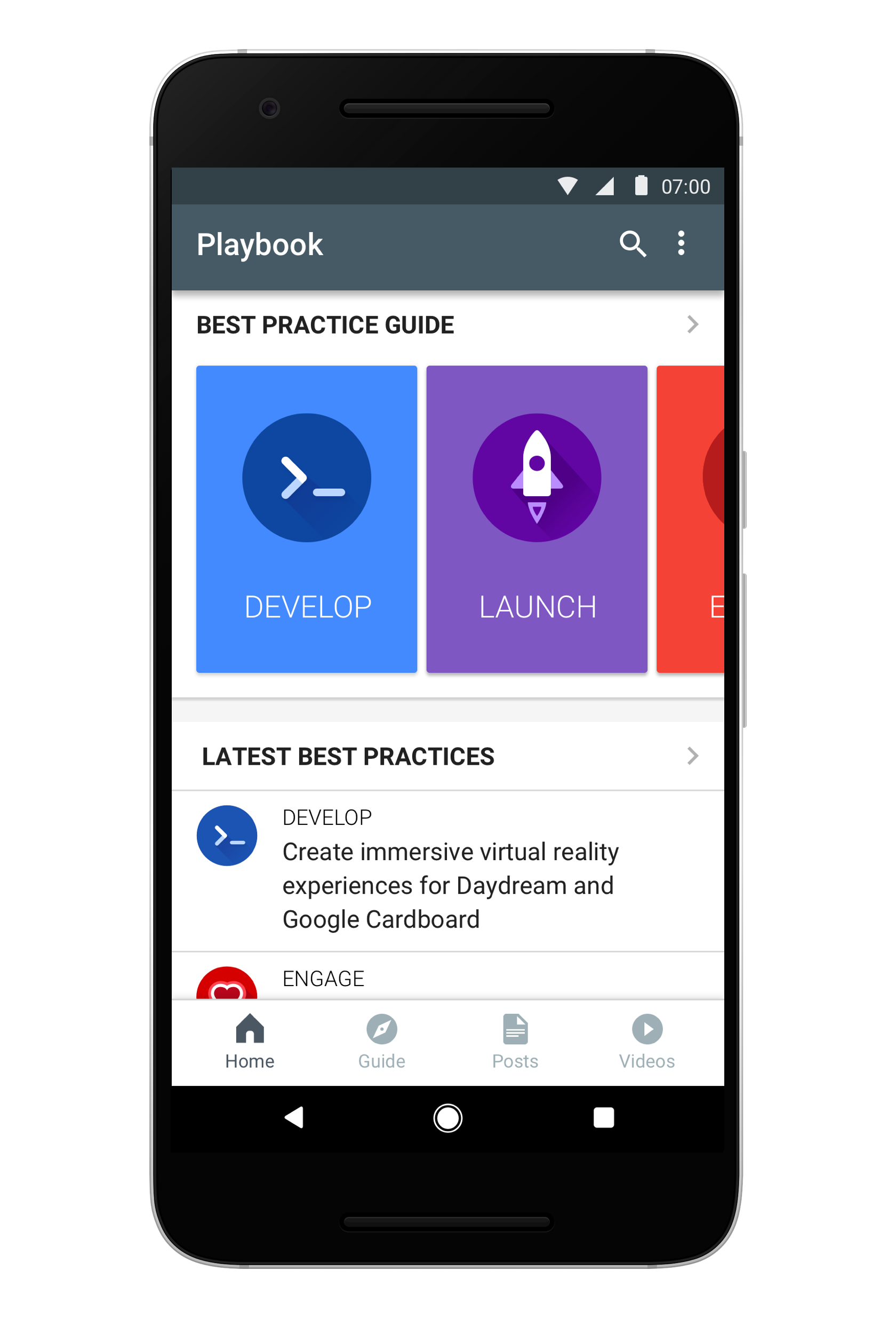 playbook for developers ribot users can choose subjects they are interested in such as design marketing games testing etc articles videos and blog posts are shown on the home