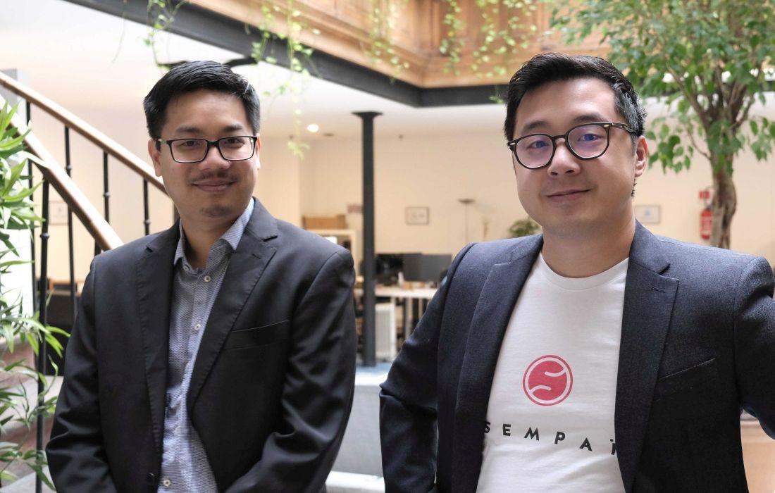 Florian Dang CTO et David Nget CEO de Sempaï