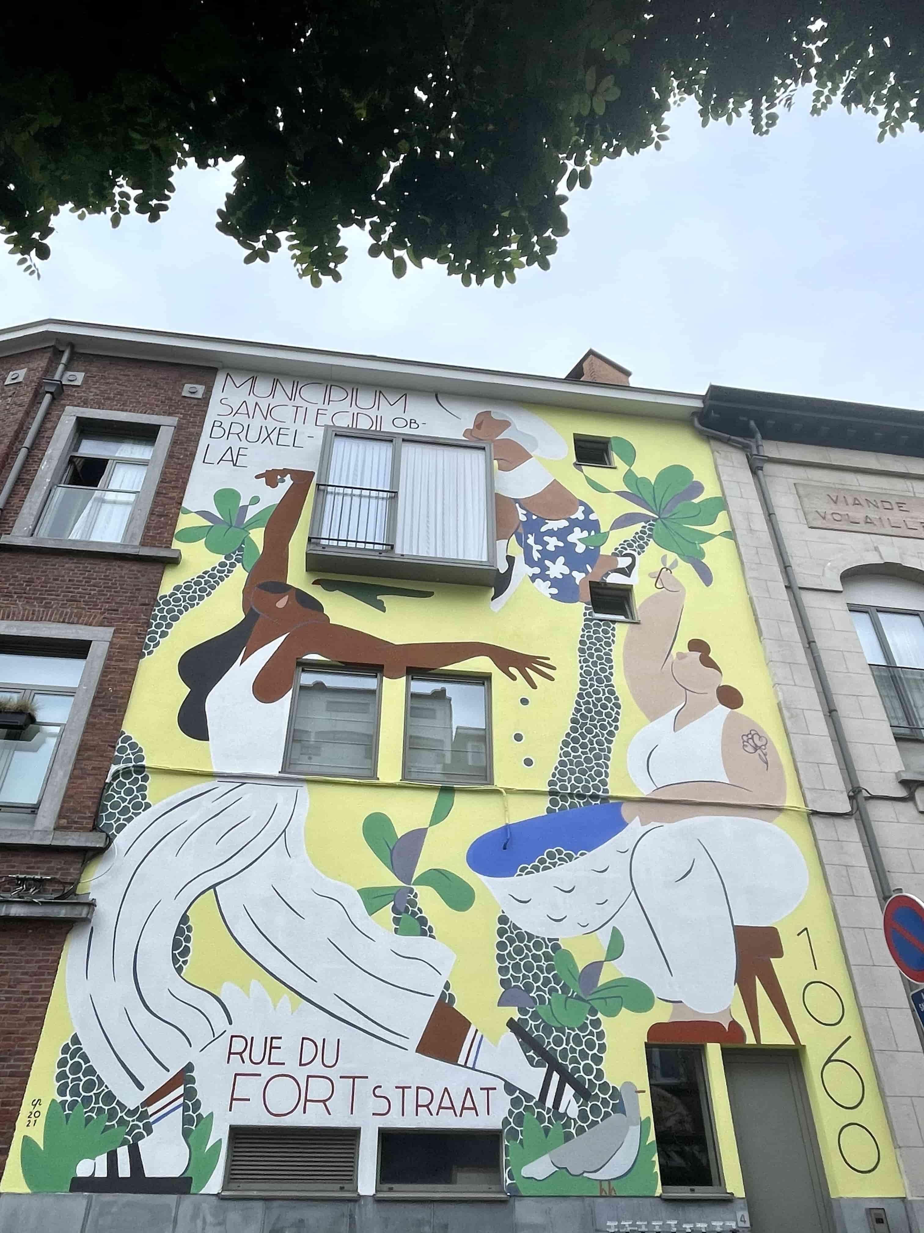 streetart coliving bruxelles sharies