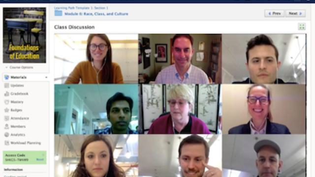 photograph demonstrating the online learning environment of American University