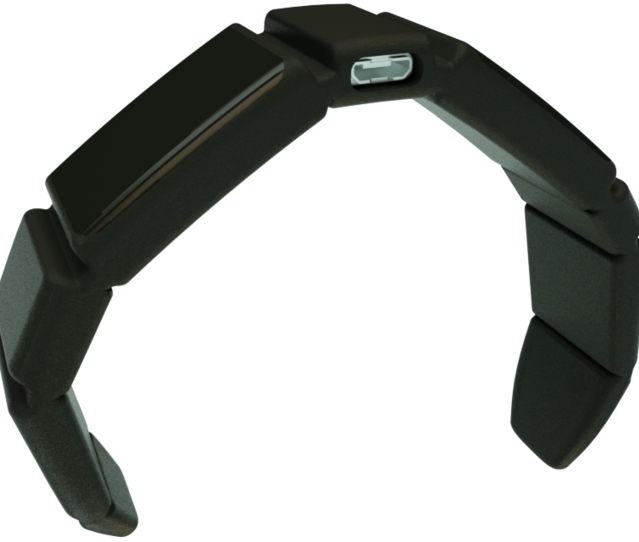 The Trakz collar, a lightweight flexible GPS and Activity tracker designed for any size of pet.