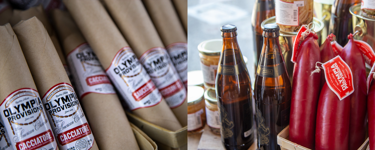 Olympia Provisions items at Good Company Cheese Bar & Bistro in Downtown Newberg