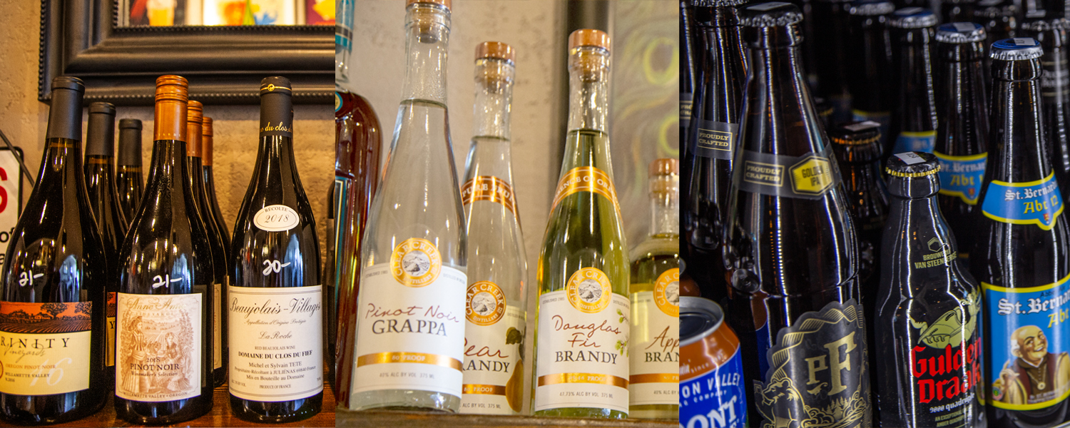 Wine, Spirits, Beer, and Cider at Good Company Cheese Bar & Bistro in Downtown Newberg, Oregon