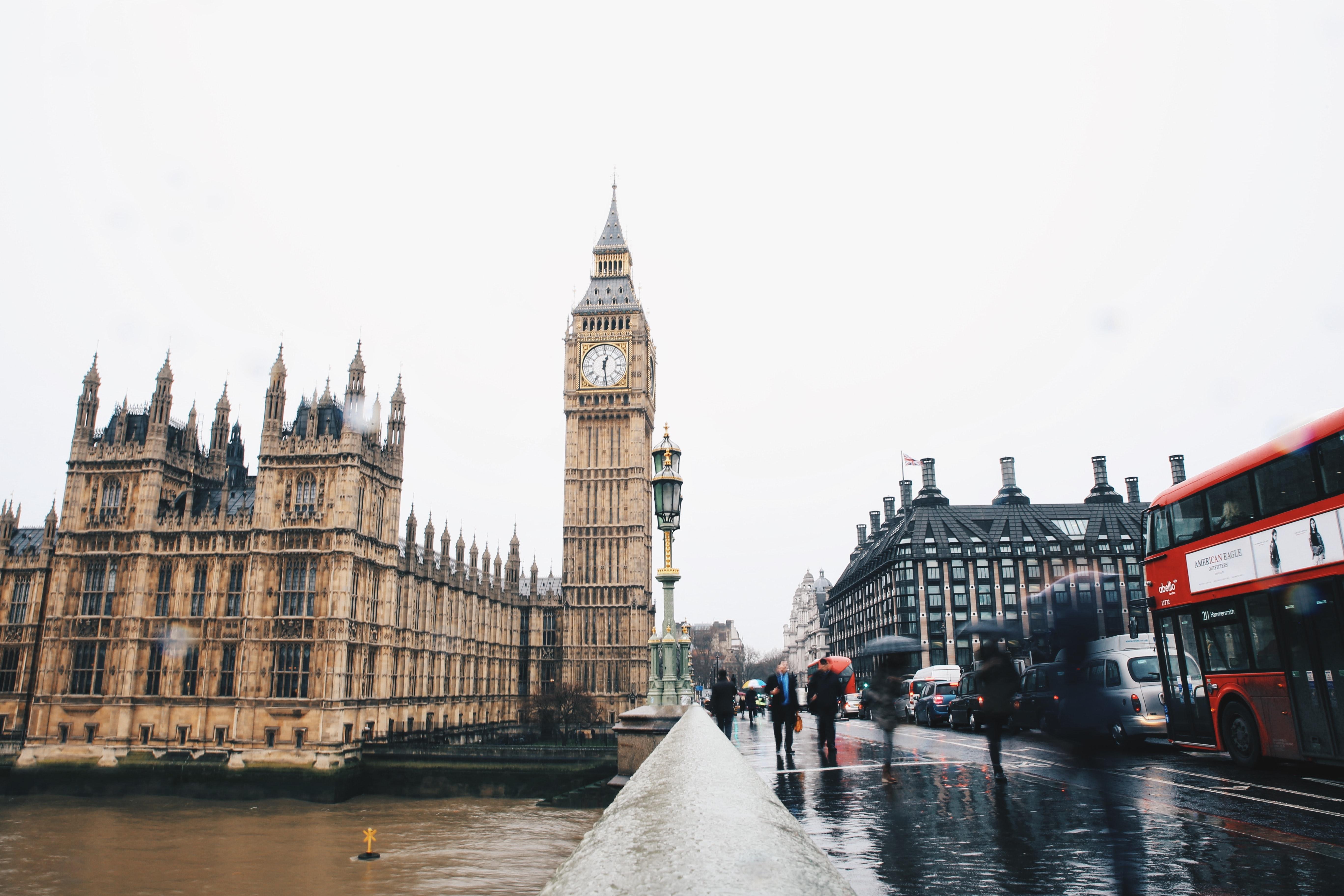 London Big Ben Bus Dienstreise