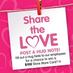 "It's Our ""National We Love Our Employees Day!"" Share a Hug Note to Win!"