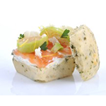 ... Bun with Smoked Salmon, Sour Cream, Pak Choi, Zest of Lime & Coriander