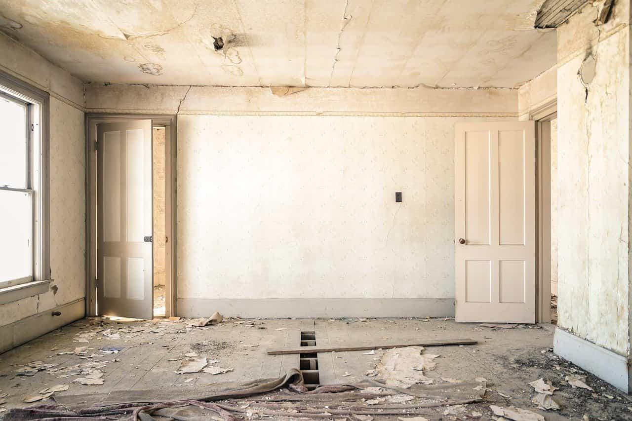 chantier de travaux de rénovation maison