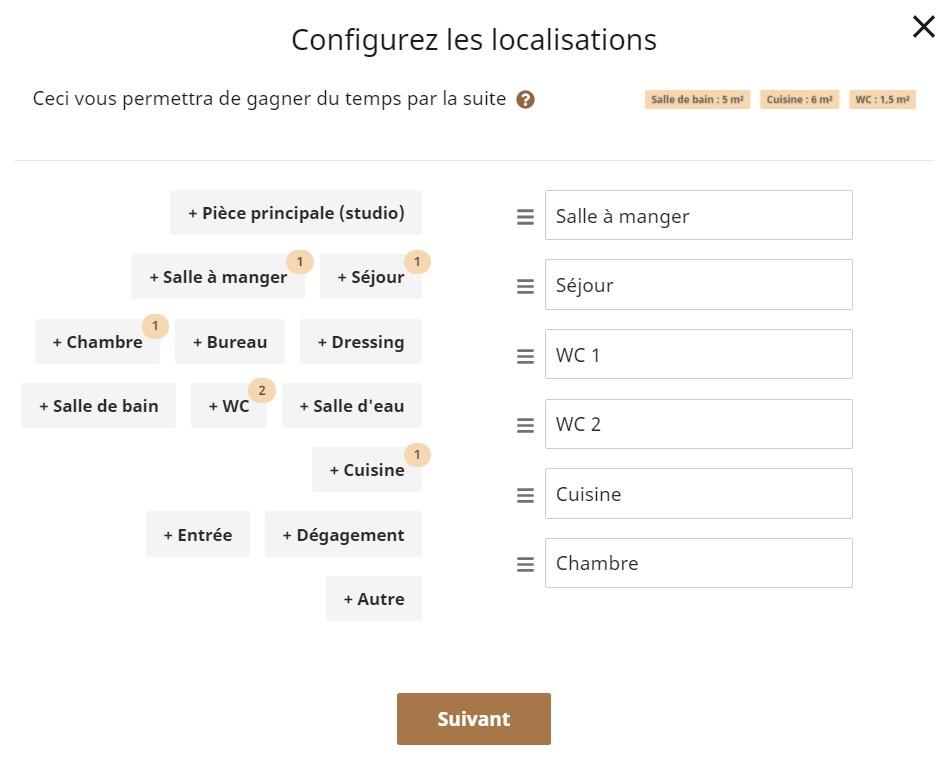 Configuration de localisations