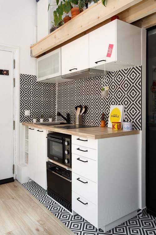 Rénovation cuisine studio de 18 m² à Paris 18