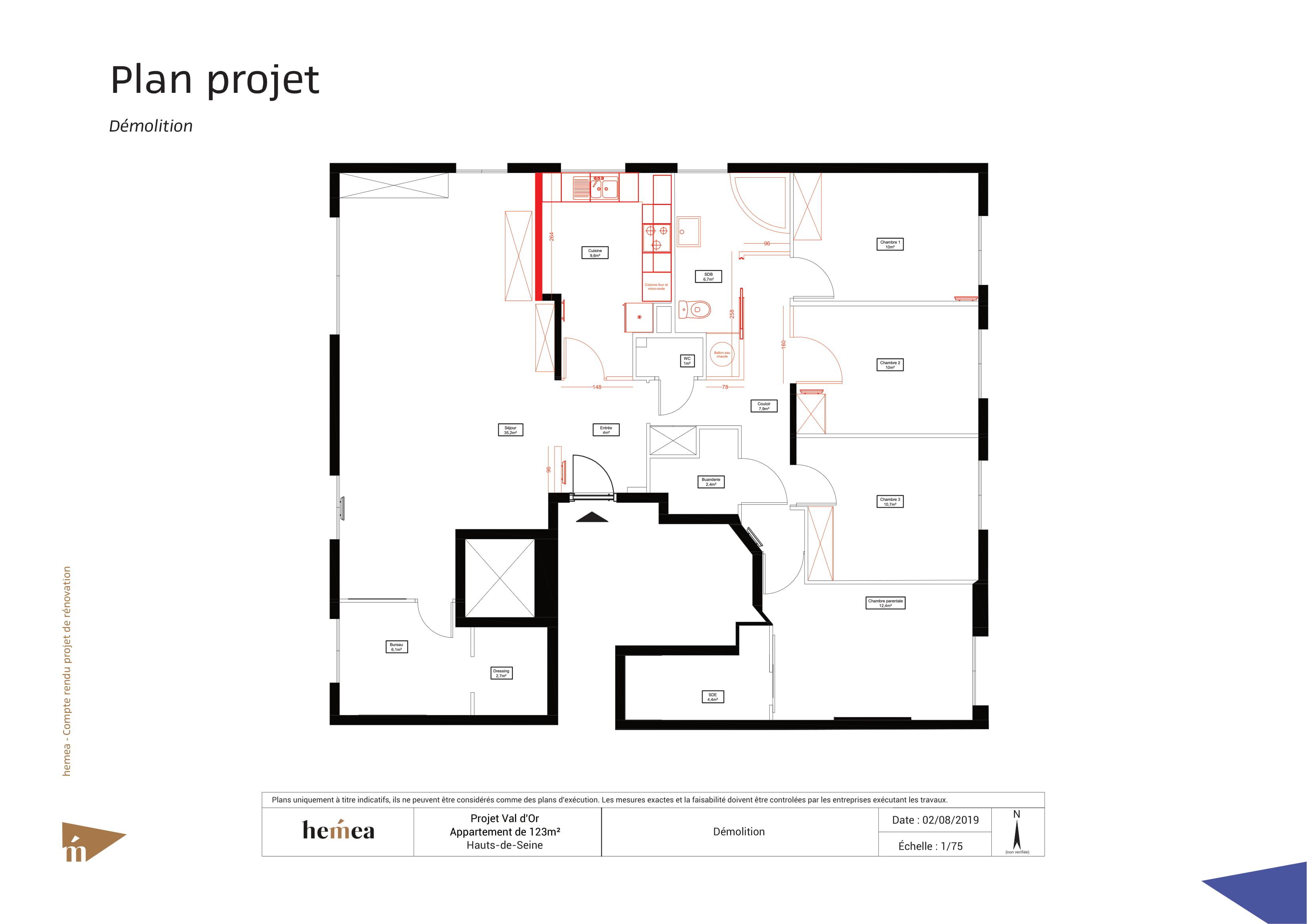 démolition plan projet