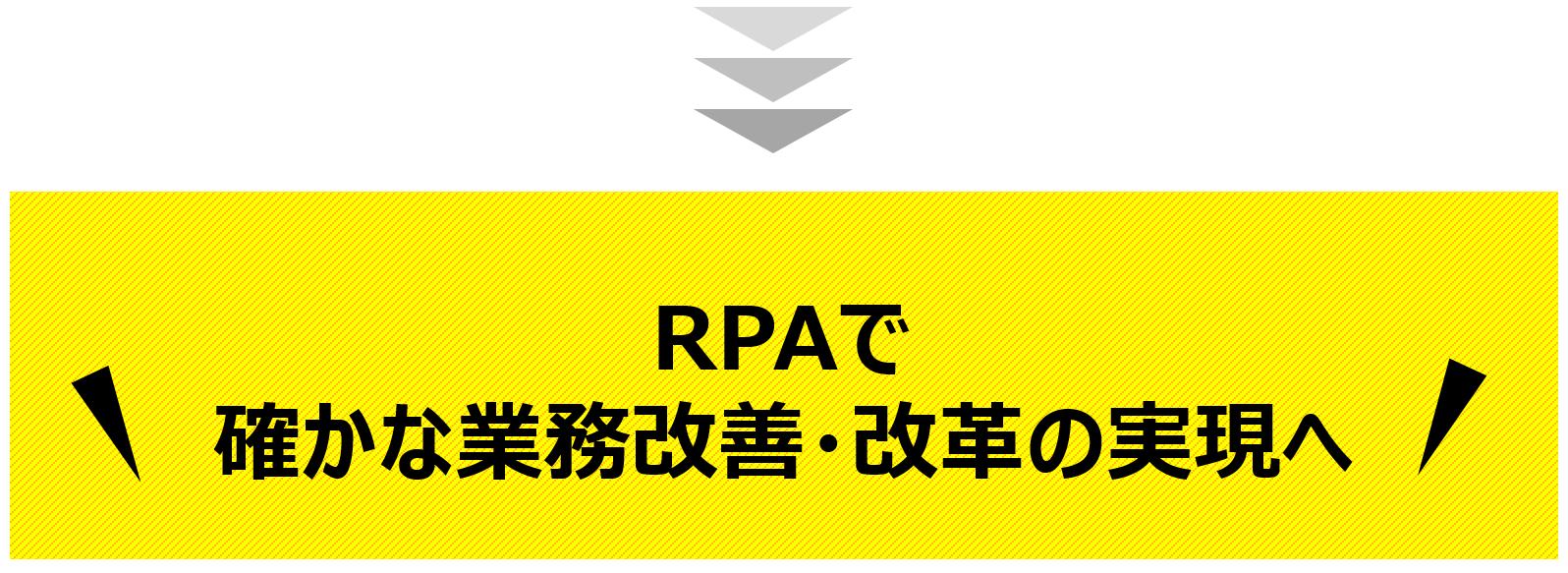 RPAで確かな業務改善の実現へ