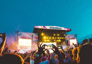 Party at Wireless Festival on us