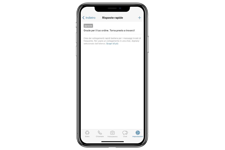 whatsapp business creare risposte rapide