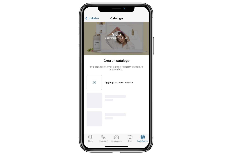 whatsapp business aggiungere prodotti al catalogo