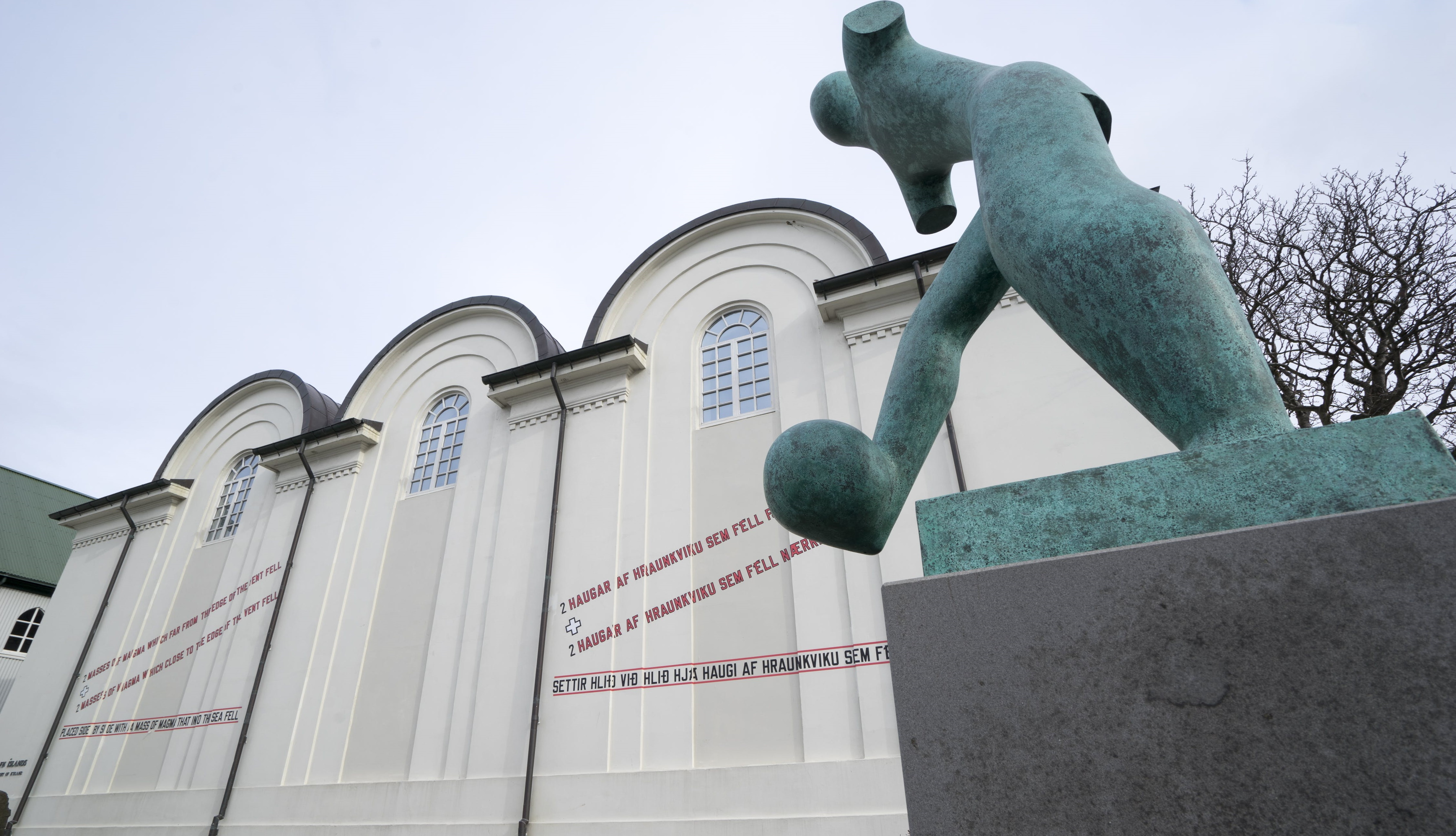 A sculpture at the National Gallery of Iceland