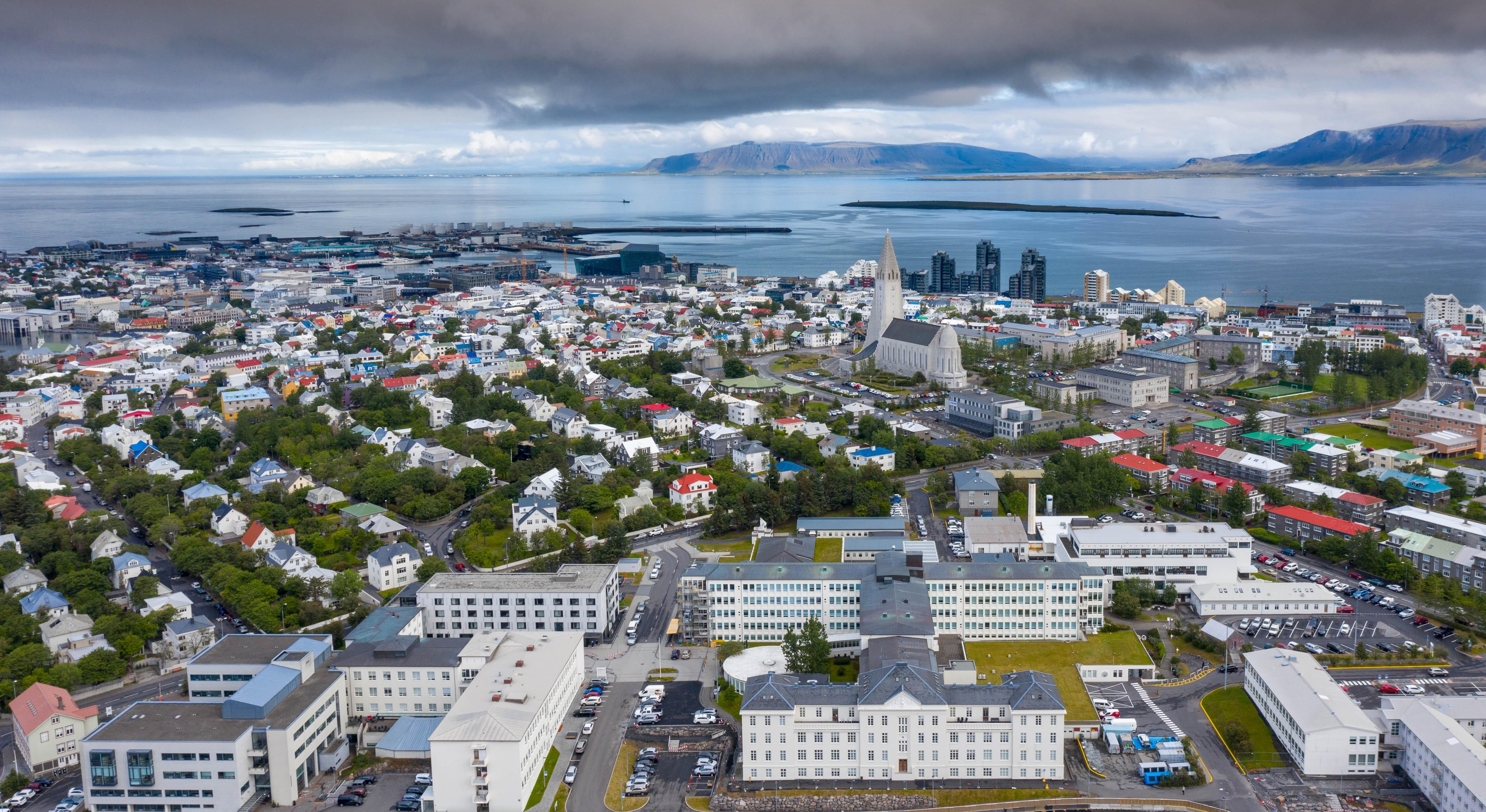 Areal photo of Reykjavík