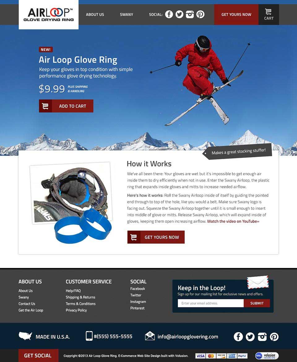 Air Loop Glove Drying Ring