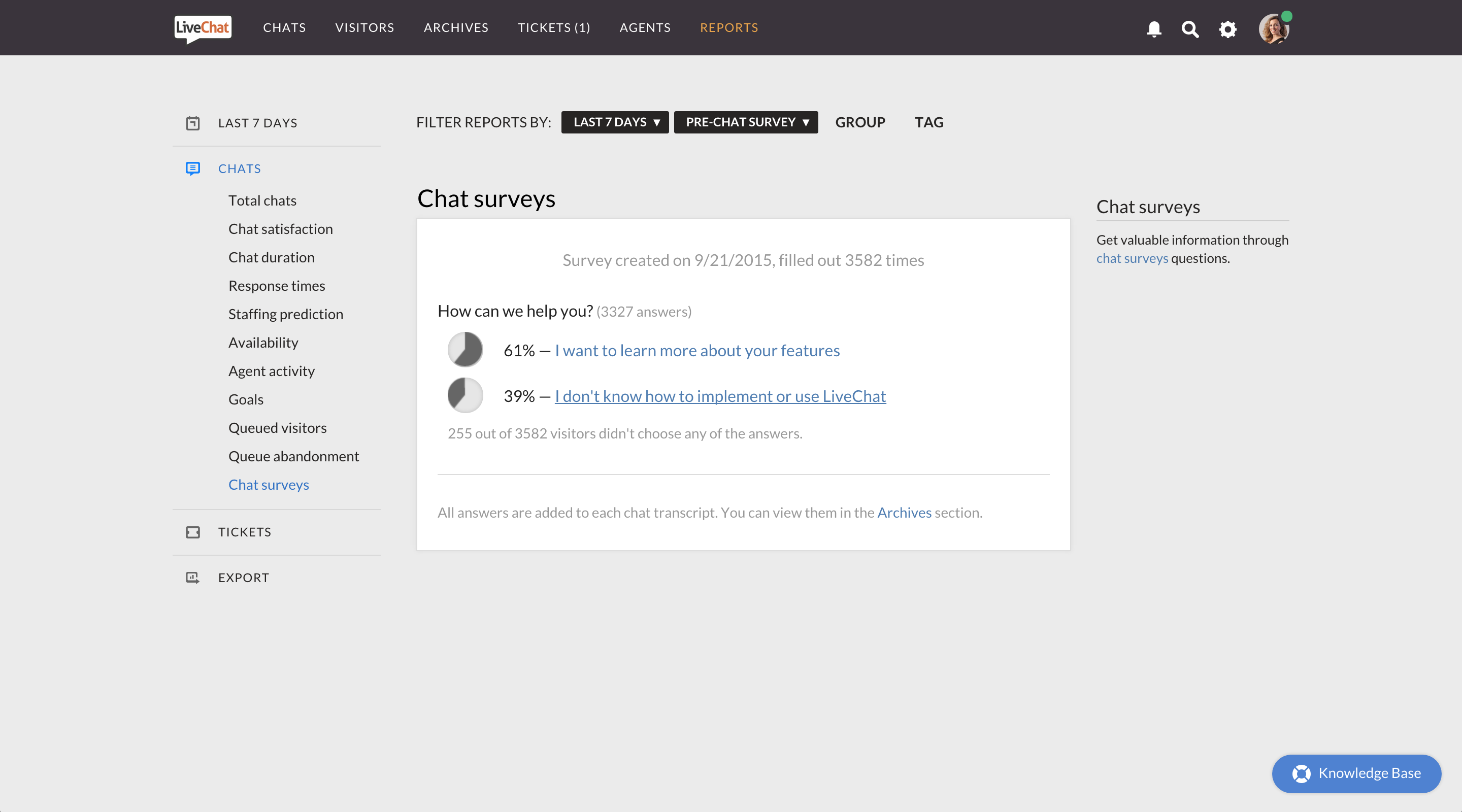LiveChat screenshot