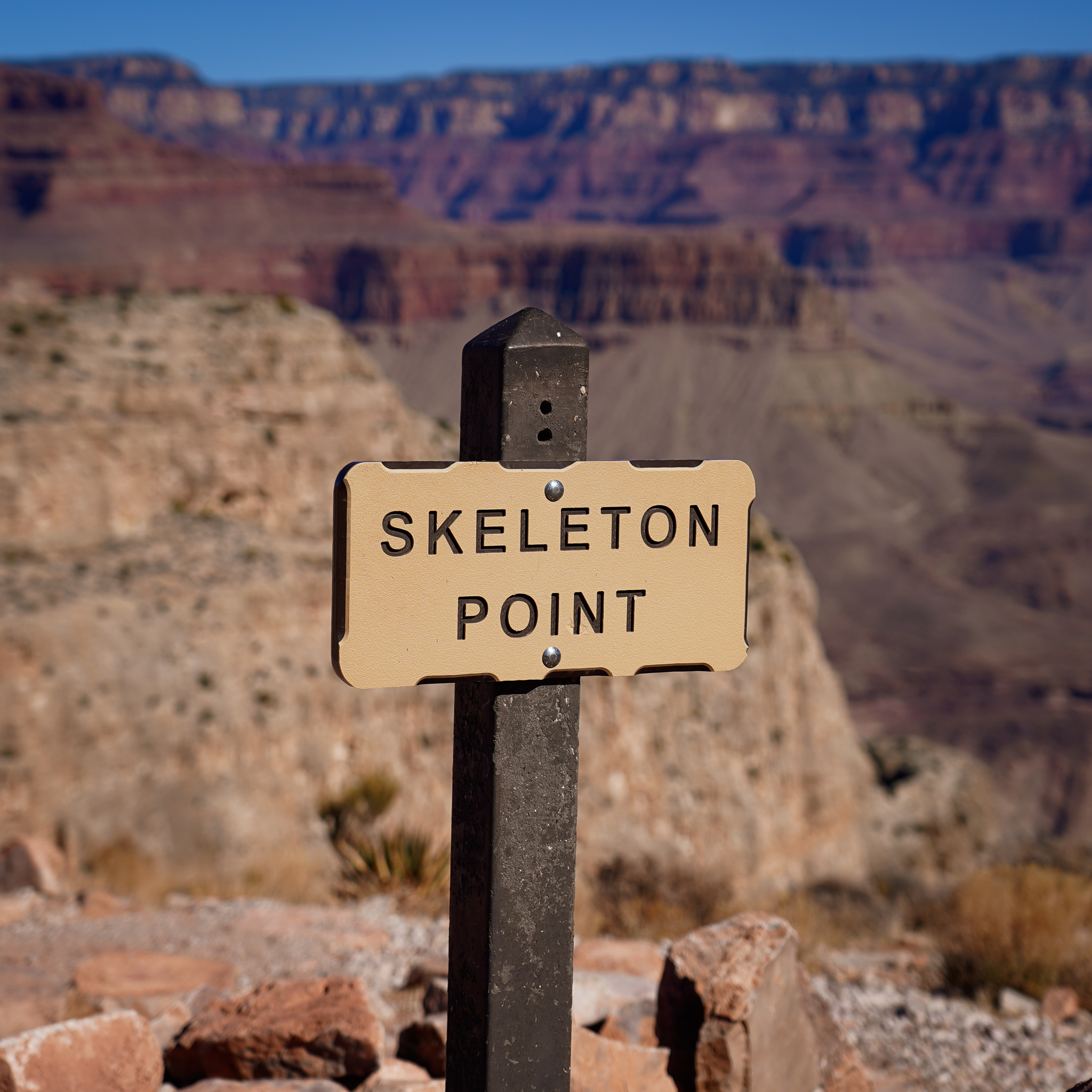 Skeleton Point sign Grand Canyon