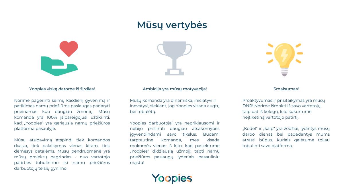 yoopies vertybės
