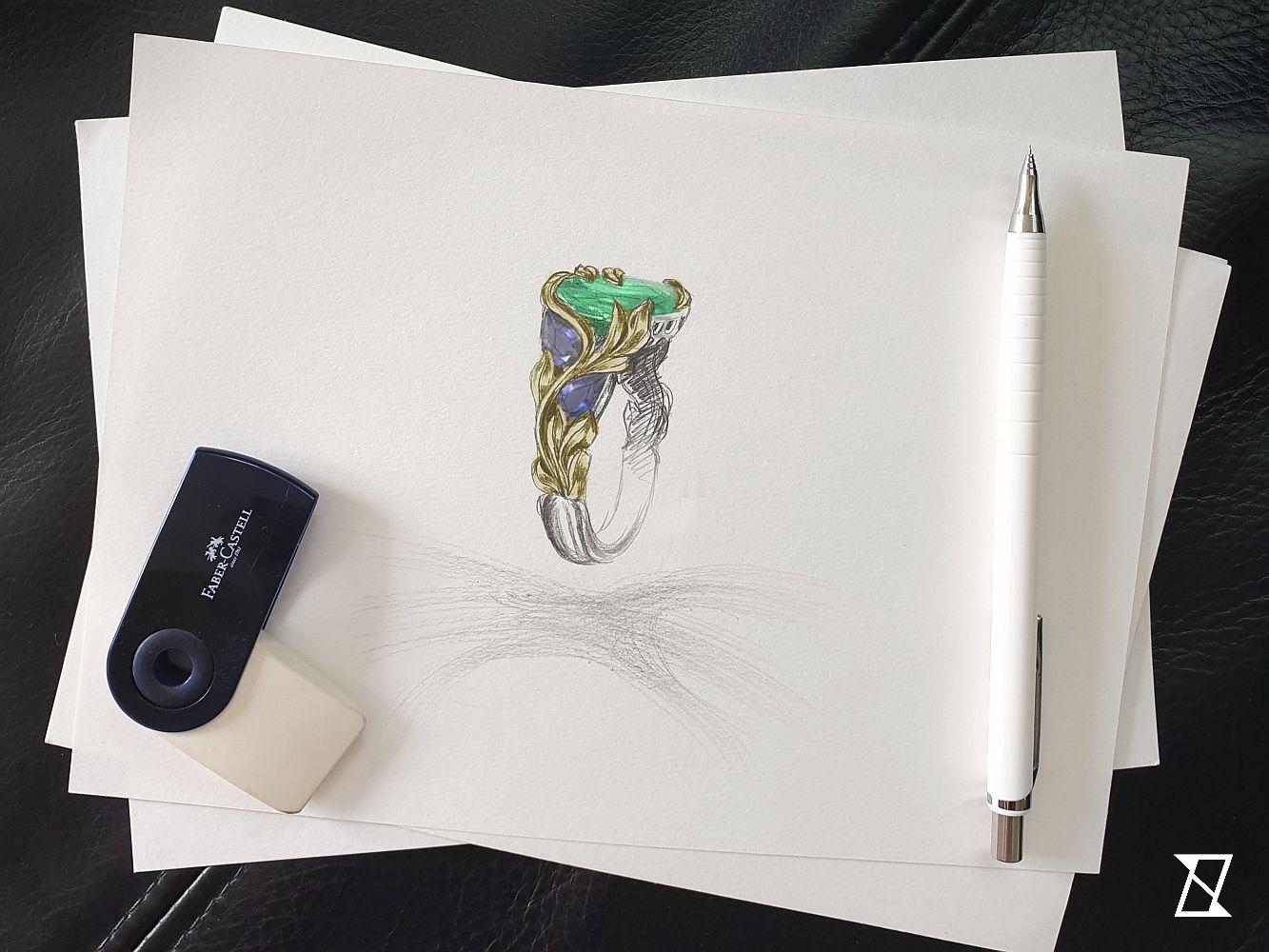 Indywidualny projekt roślinnego pierścionka