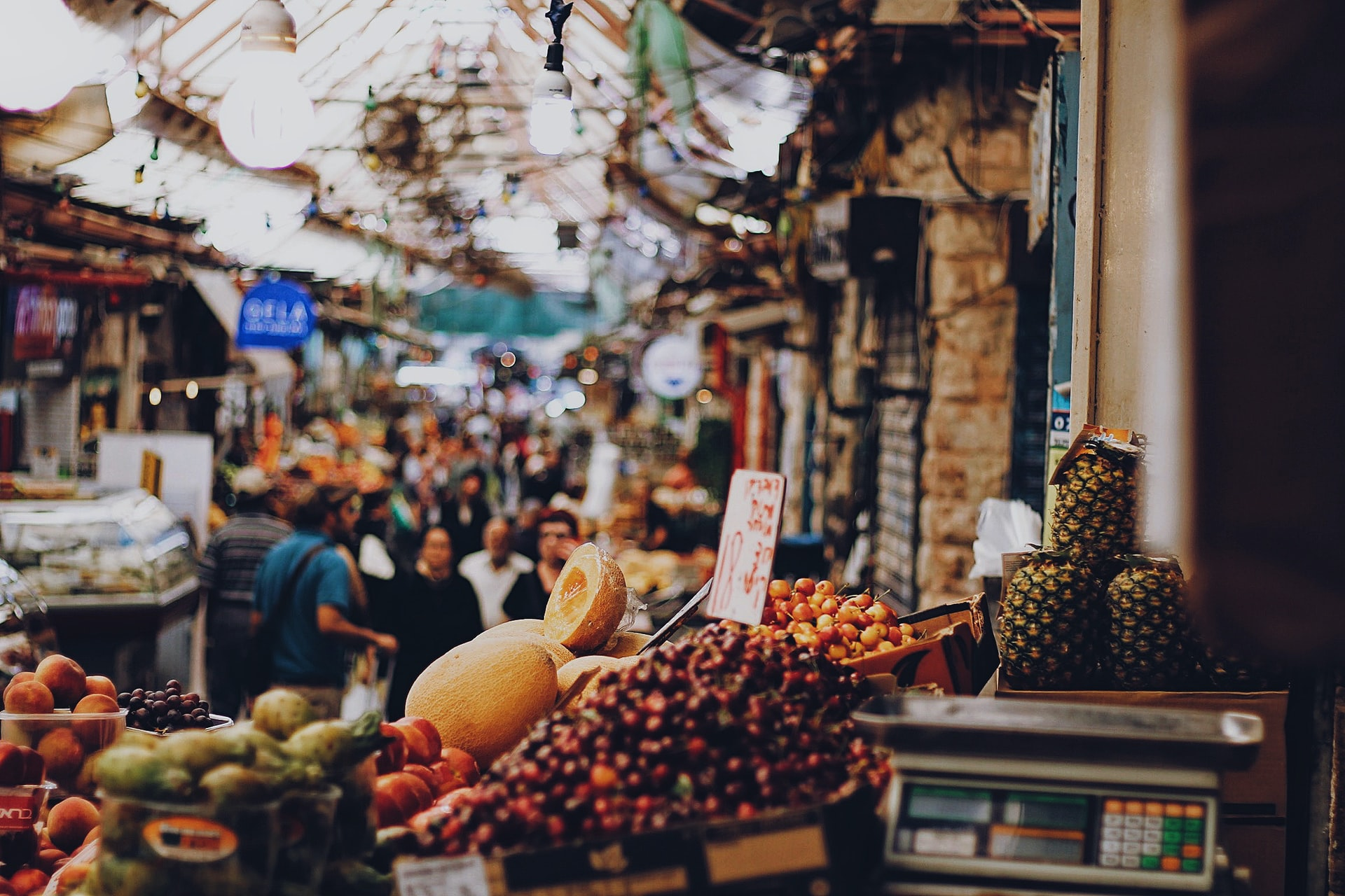 Mahane Yehuda Market, Jerusalem, Israel, photo from Unsplash