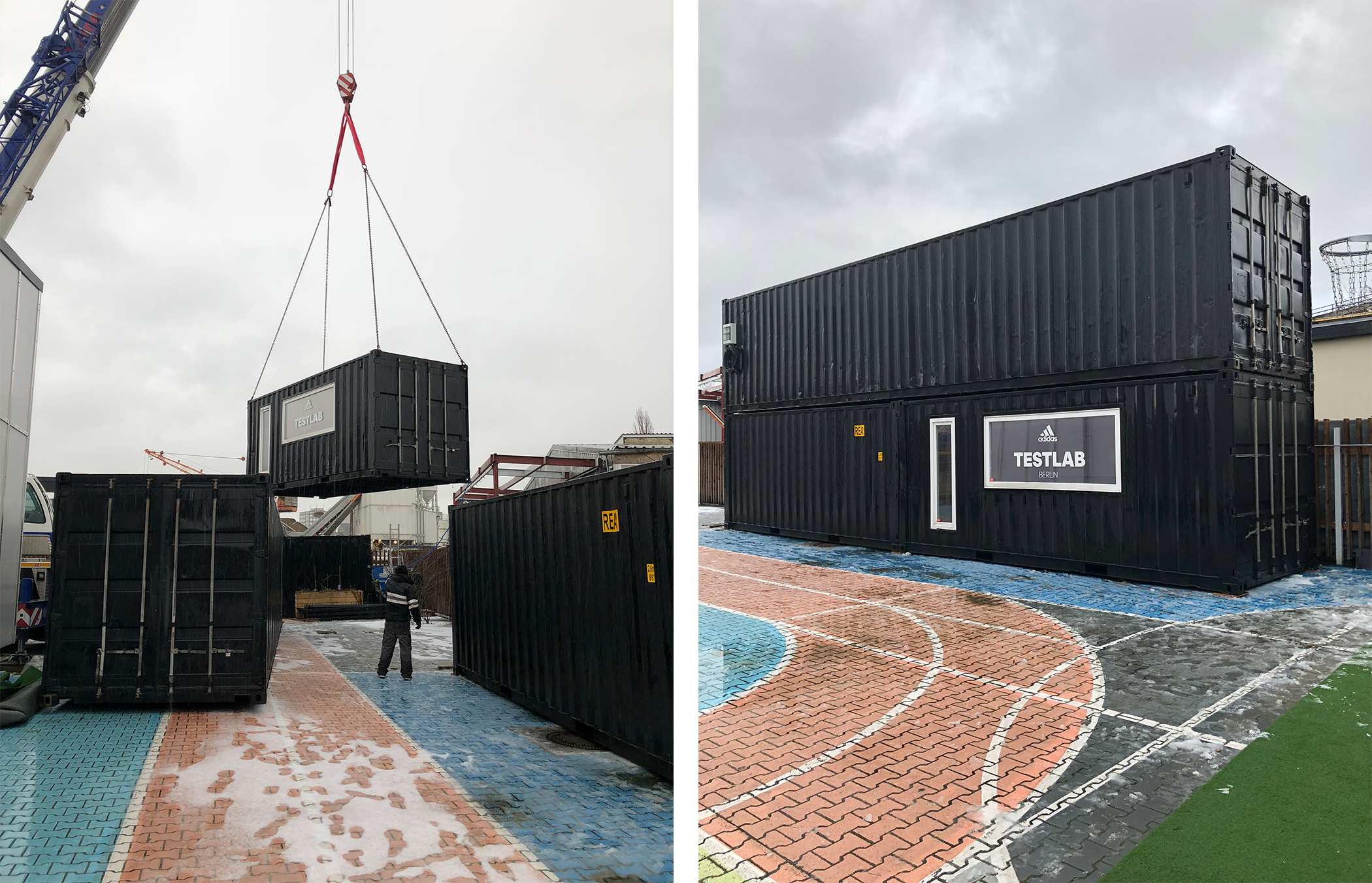 relocation of shipping containers